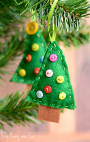 felt tree ornament easy peasy and