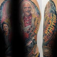 50 back to the future tattoo designs for men sci fi ink ideas