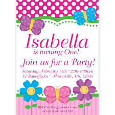 template classic butterfly birthday party invitations with