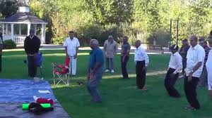 laughter yoga session at george otten park in beaverton oregon