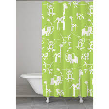 Monogrammed Bathroom Accessories by Kassa Kids Jungle Shower Curtain