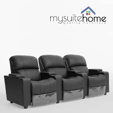 home theater recliners sophie brand new leather 3 seater recliner home theater