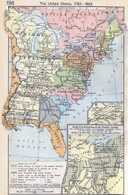 A Picture Of The Map Of The United States by Of The United States 1783 1803