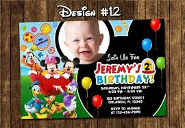 birthday invitation templates mickey mouse clubhouse birthday
