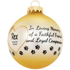 personalized pet memorial halo heart glass ornament penned