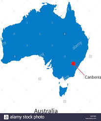 vector map detailed vector map of australia and capital city canberra stock