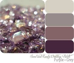wedding color palette purple grey sweet and lovely life