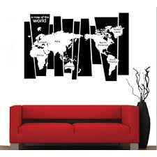 World Map Decal by Map Of The World Wall Sticker