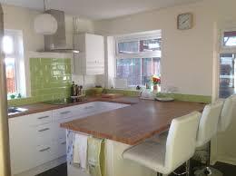 finished kitchen wickes houston with colmar oak work tops ikea