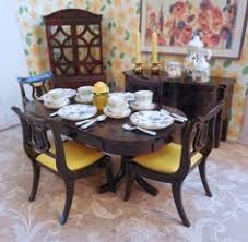Dollhouse Dining Room Furniture Details About Renwal Dollhouse Furniture Dining Room Set Vintage