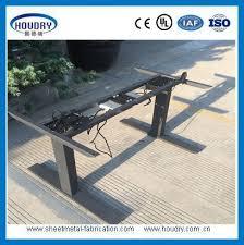 Steel Frame Desk Frame A6 Electric Standing Desk With Wooden Desktop Height