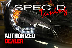 jeep headlights at night spec d 2lhp gkee93jm tm black dual halo projector led headlights