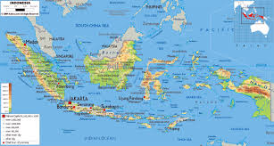 South Asia Physical Map by Maps Of Indonesia Detailed Map Of Indonesia In English Tourist