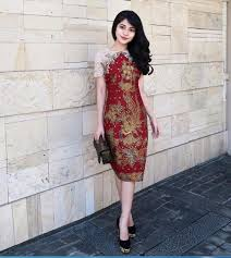 model dress baju batik kerja model dress fashion modern 2018