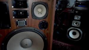 high end home theater speakers rare speaker trio kenwood kl888a highend 1976 youtube