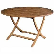 round wooden folding table teka round folding table curve legs teak wooden garden outdoor