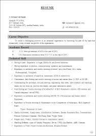 Resume Format For Freshers Computer Science Engineers    computer     Brefash