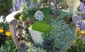 let a creative fairy garden transform a boring yard