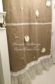 Burlap Shower Curtains Country Cottage Style Shower Curtains Shower Curtain Design