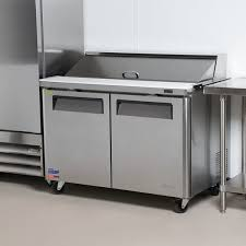 48 inch sandwich prep table used air mst 48 18 48 2 door mega top refrigerated sandwich prep table