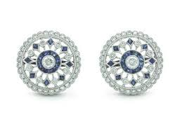 diamond earrings uk diamond earrings london diamond sapphire lattice studs