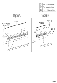 lexus lx450 parts diagram removing side molding ih8mud forum