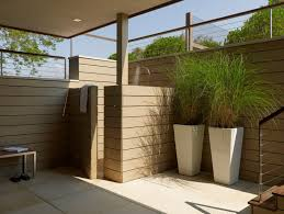 Outdoor Shower Ideas by Fabulous Tall Outdoor Planters For Modern Outdoor Shower Ideas