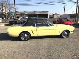 1965 yellow mustang 1965 ford mustang convertible in stratford nj black tie classics