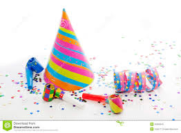new year items party birthday new year items royalty free stock photo image