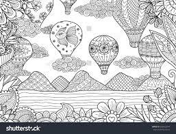 line art design air balloons stock vector 600423974 shutterstock