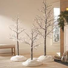 stick christmas tree with lights martha stewart living snowy brown lighted stick tree christmas