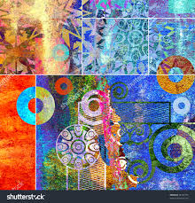 abstract modern painting stock photos images pictures digital
