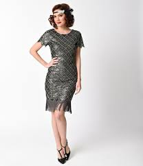 1920s style cocktail party dresses evening gowns fringe flapper