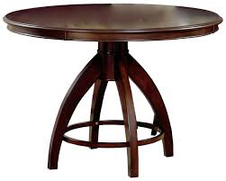 amazon com hillsdale nottingham round pedestal dining table dark