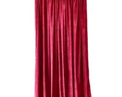 Burgundy Velvet Curtains Velvet Curtains Etsy