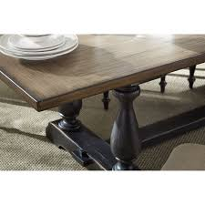 two tone dining room sets two tone dining table with trestle base by standard furniture