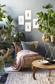 plants in living room home design ideas