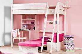 Girls Bedroom Ideas Bunk Beds Bedroom Dazzling Space Saving Loft Bed Idea With Desk For Girls