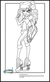 monster high coloring pages minister coloring
