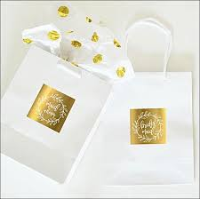 bridal party gift bags boho gold wreath bridal party gift bags set of 6 peters party