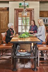 rustic kitchen island table rustic kitchen style providing cozy nuance for family gathering