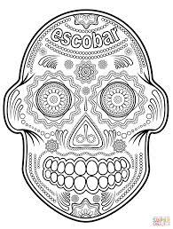 inspiring idea sugar skull coloring pages skulls free inofations