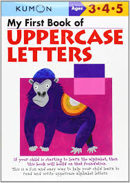 amazon com my first book of uppercase letters kumon workbooks