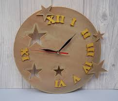 wall clock the moon wood clock unique wall clock handmade