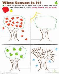 learning the seasons worksheet education com