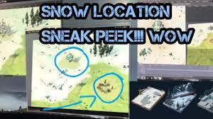 snow location sneak peek last day on earth winter update