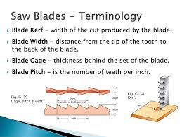 table saw blade width mach 112 cutting tools measurement ppt download