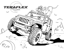 jeep coloring pages download print free coloring pages