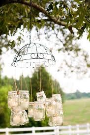 outdoor fall decor ideas rustic wedding mason jar chandelier diy