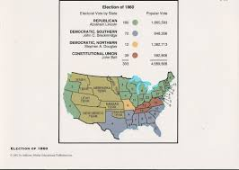 Election Of 1860 Map by Quia Escalation To War Vocabulary
